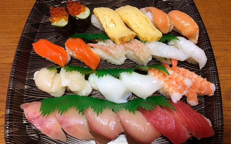 デリバリーバイトのおすすめランキング2位 宅配寿司店
